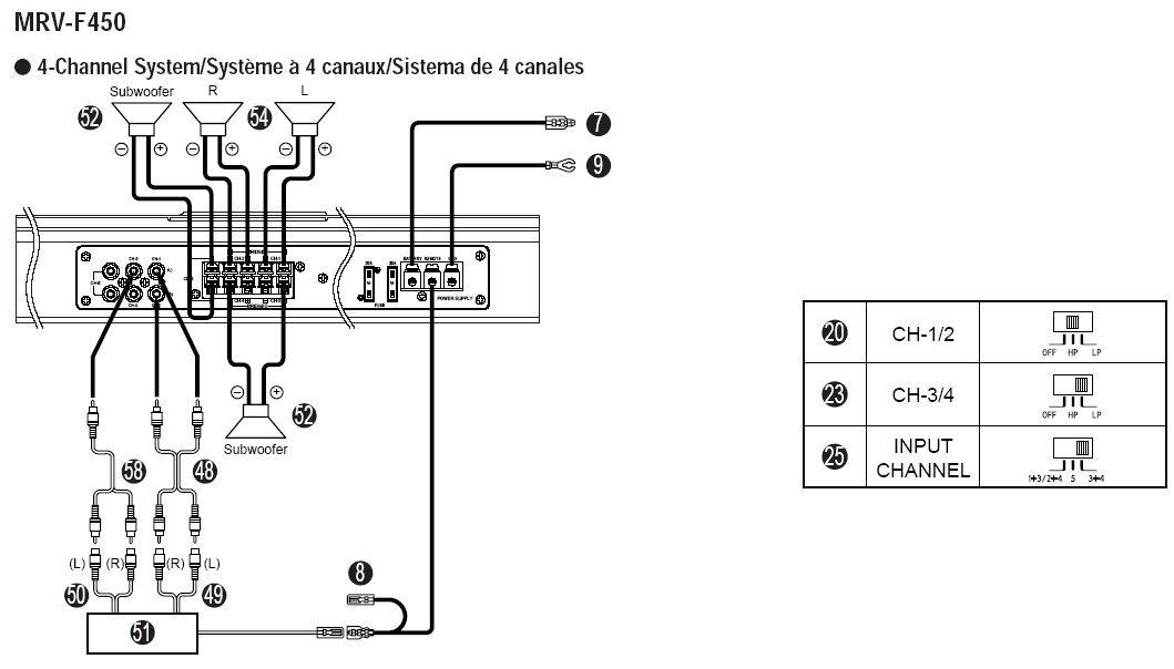 3556 alpine amplifier wiring diagram