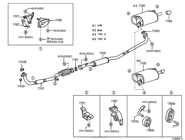 1997 toyota camry exhaust diagram category exhaust diagram