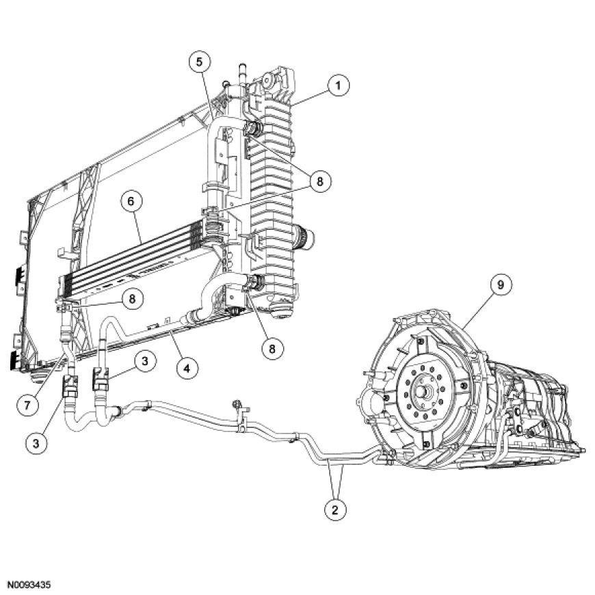 2007 ford edge transmission diagram