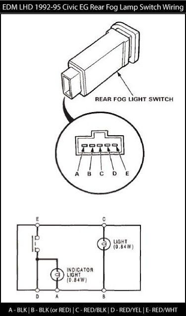 07 accord fog light harness switch
