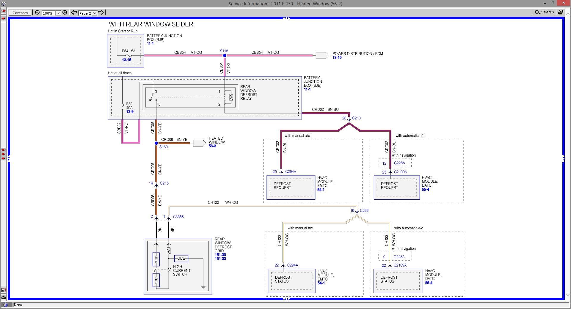 2011 ford f 150 rear window wiring diagram