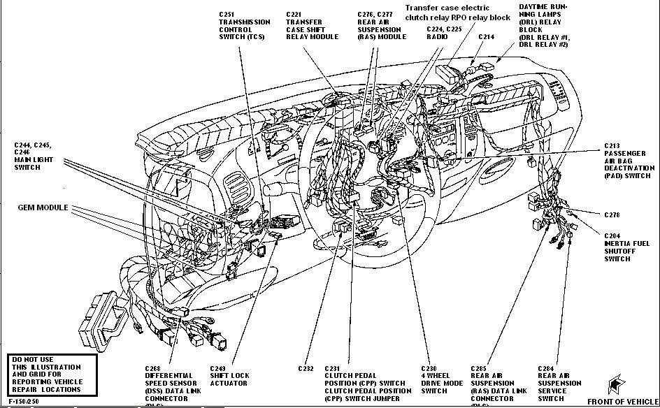 2003 ford f 150 transfer case diagram