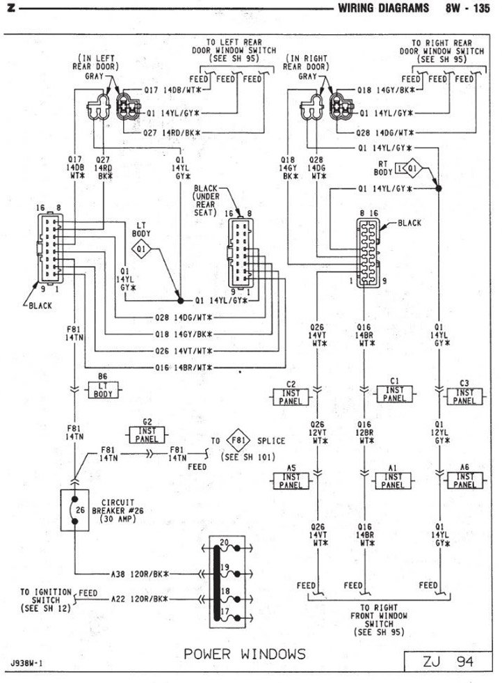 jeep window switch wiring diagram 1993