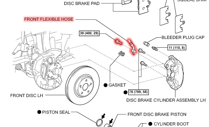 brake caliper assembly diagram