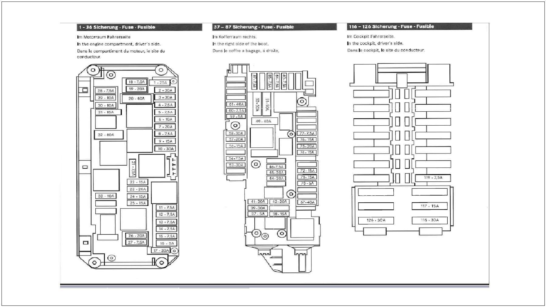 mercedes e550 fuse diagram