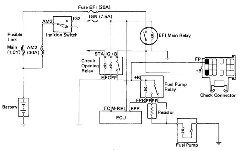 fuel pump relay 109 fuel circuit diagrams