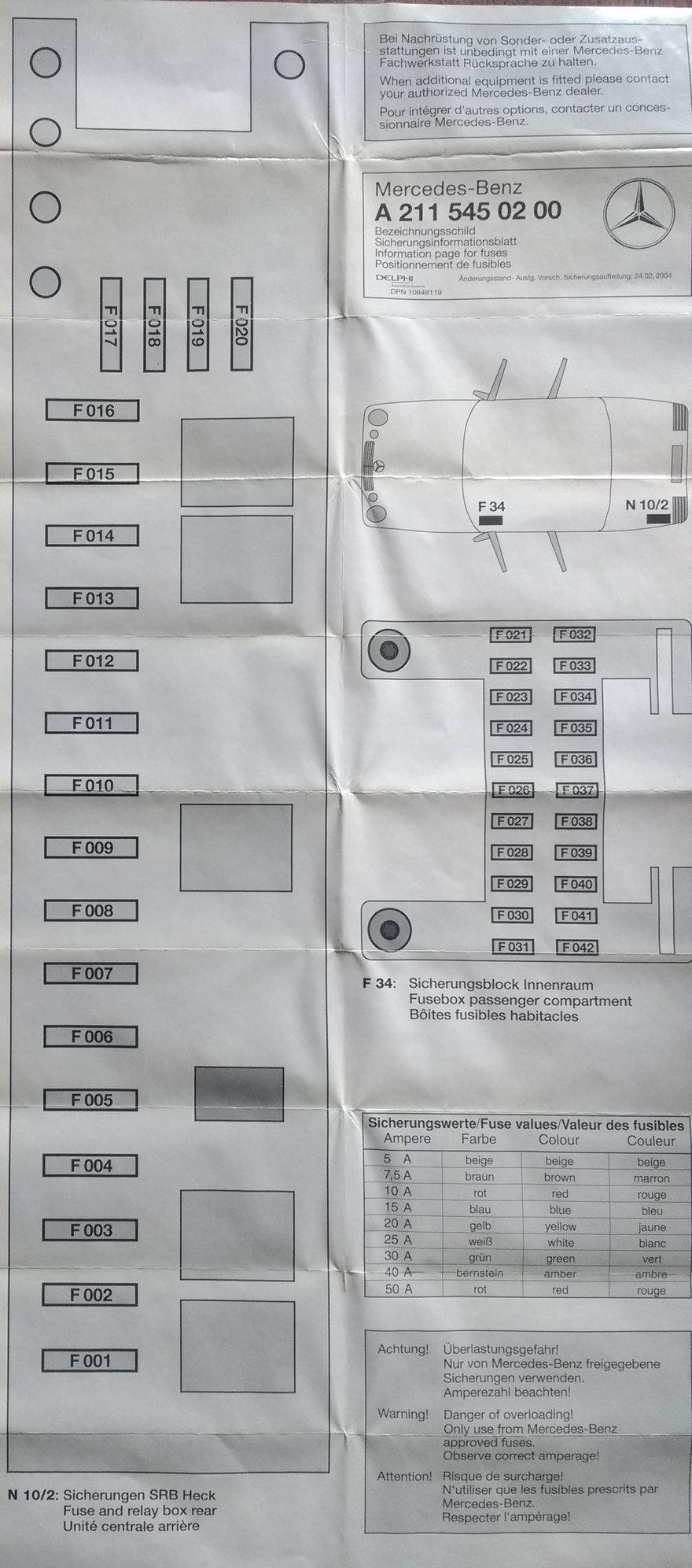 2003 Mercedes S500 Fuse Diagram  17e2a7 00 S500 Fuse Box