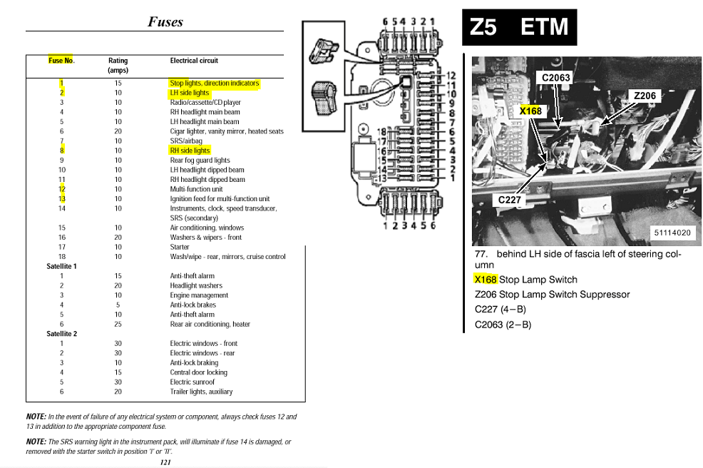 range rover p38 starter relay location