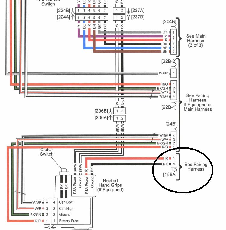 2012 harley fltrx wiring harness diagram