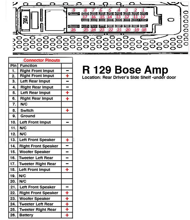 bose w140 wiring diagram