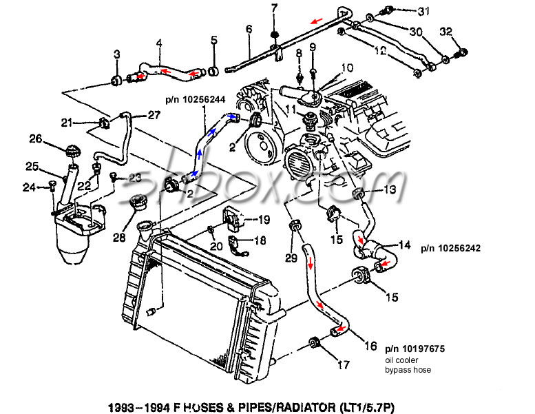 94 camaro lt1 engine diagram