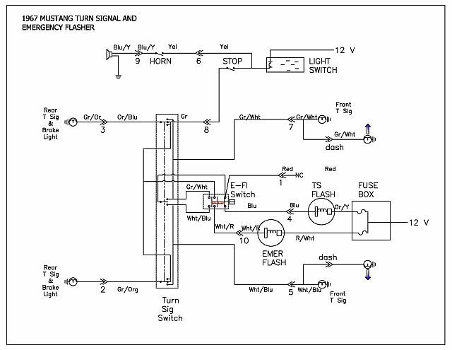 67 Mustang Turn Signal Switch Power Question - MustangForums