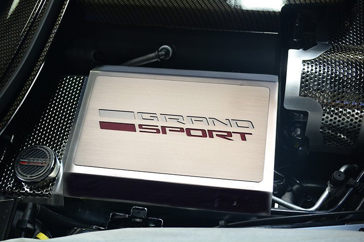 C7 Corvette Grand Sport Logo Stainless Steel Fuse Box Cover @ RPI