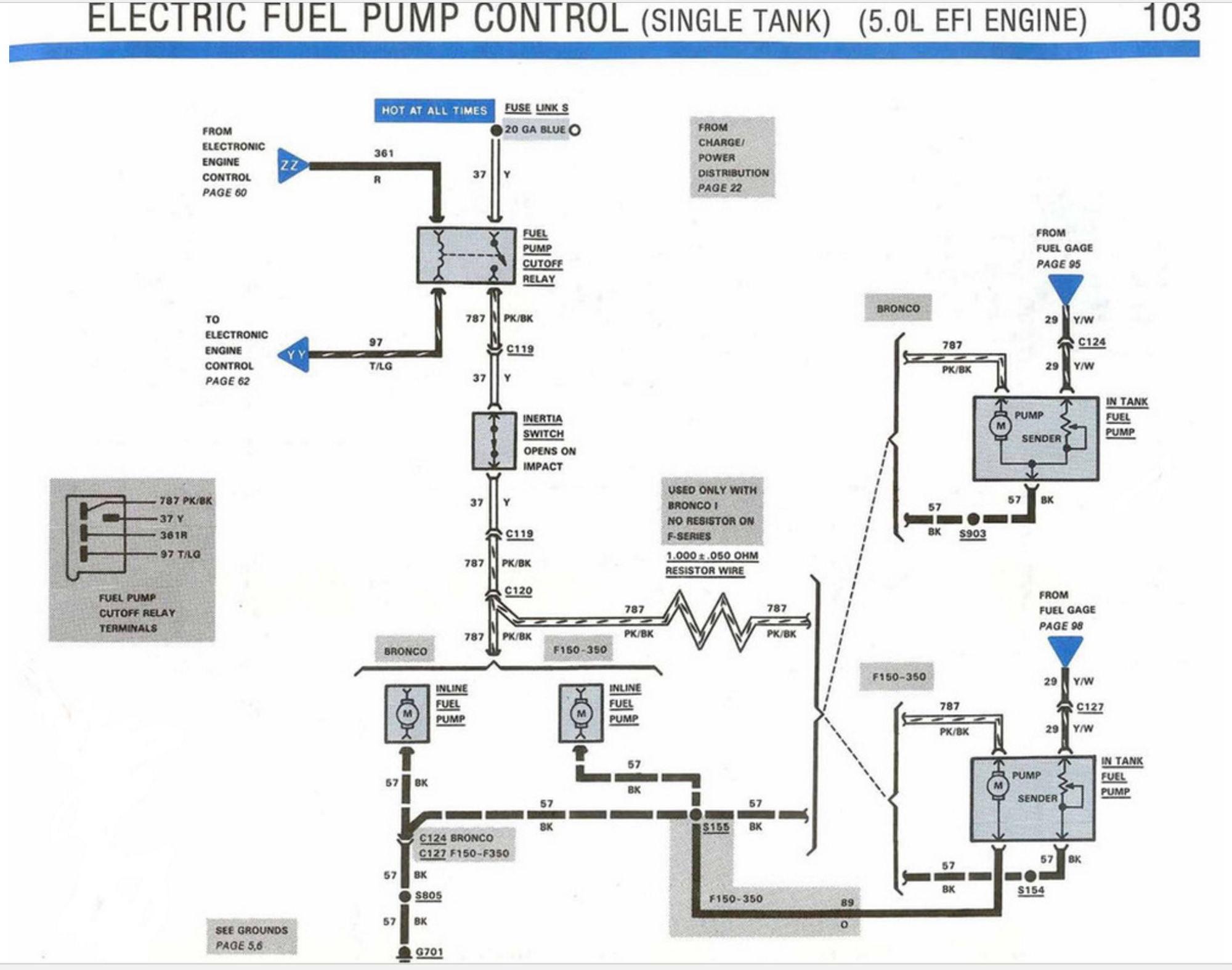 86 ford f 150 fuel pump relay location