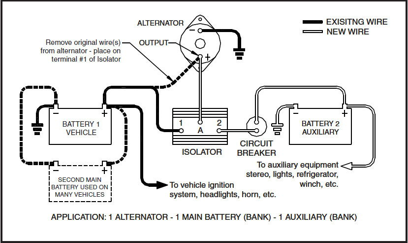 wiring diagram battery isolator