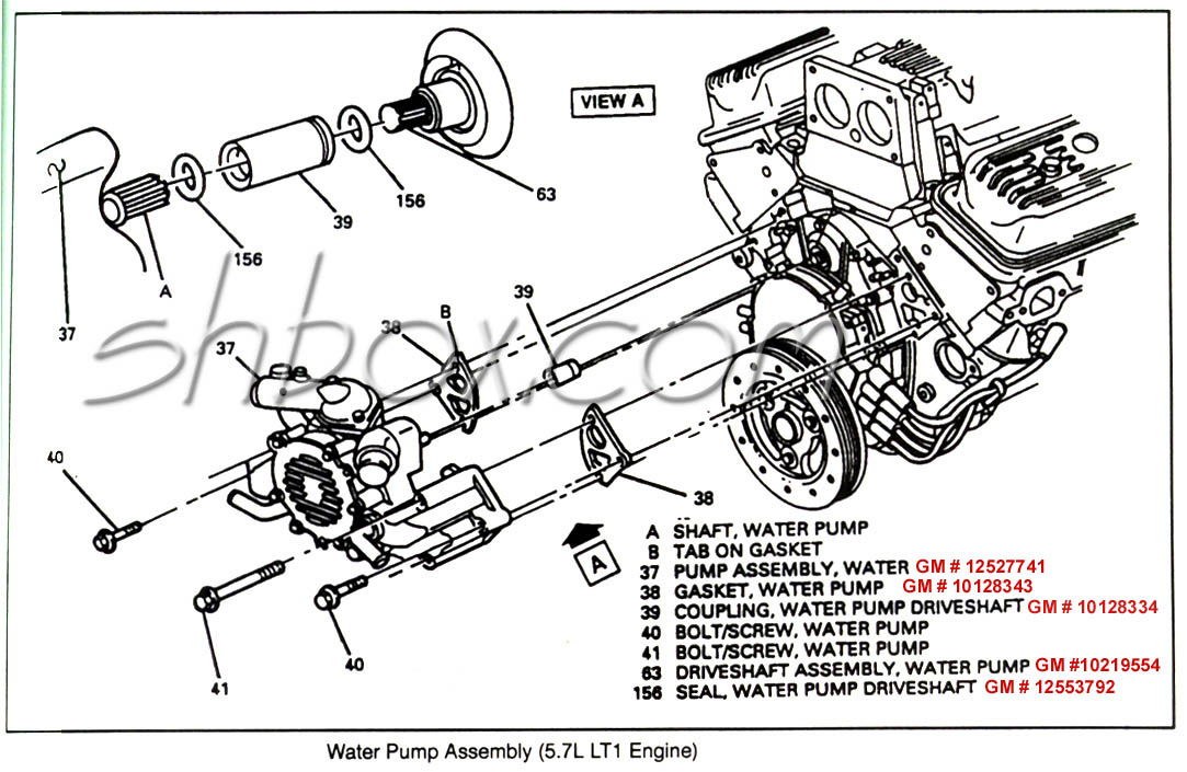 chevy lt1 engine diagram