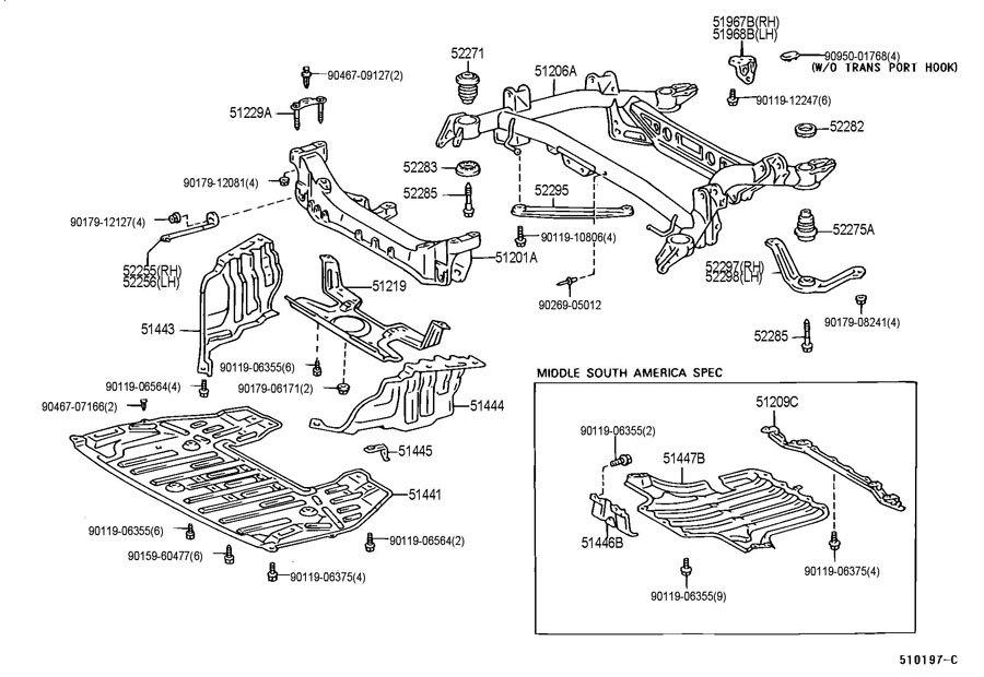 lexus ls400 rear suspension diagram