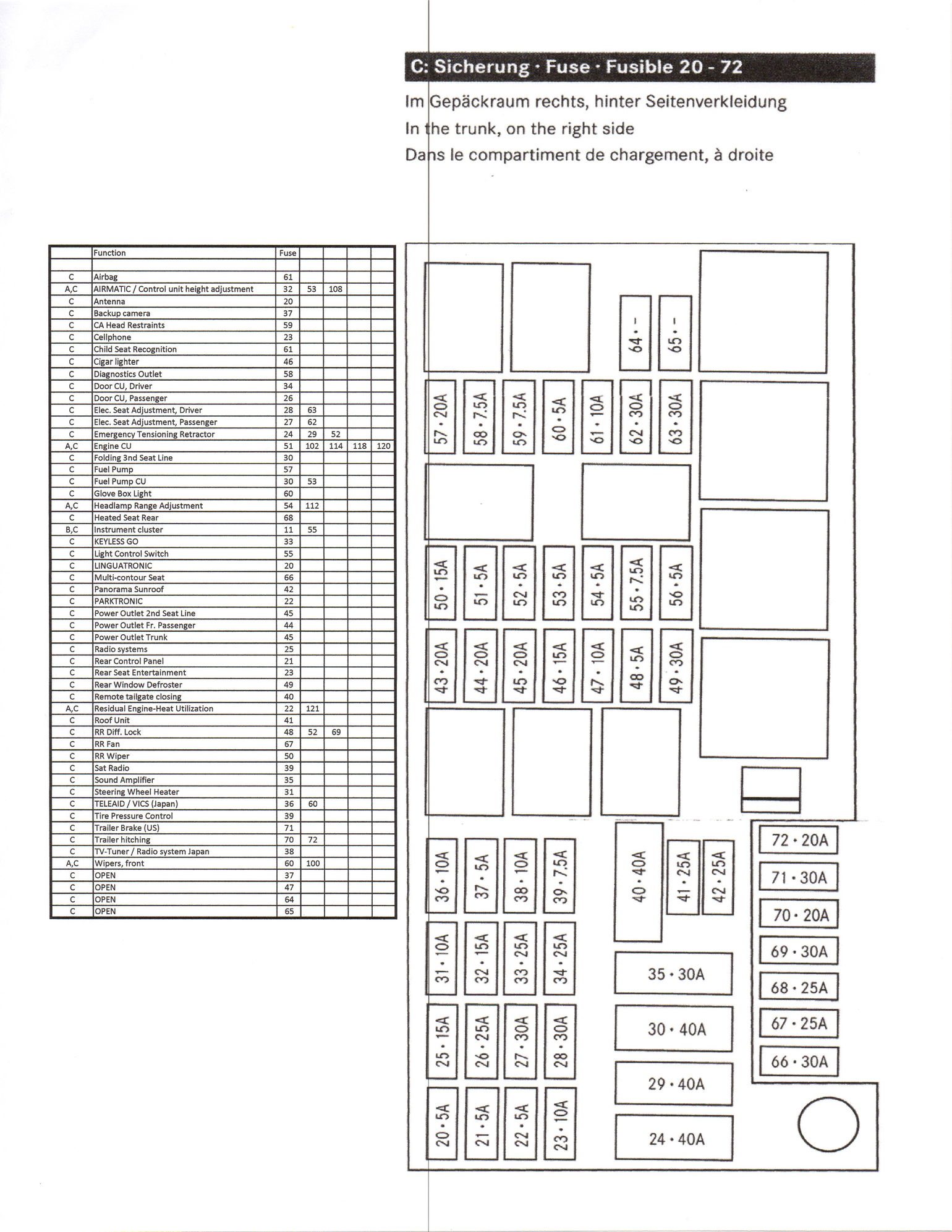 2007 mercedes benz gl450 fuse diagram