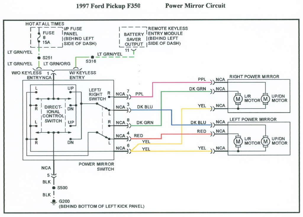 1996 power mirror wiring diagram ? - Ford F150 Forum - Community of