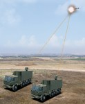 Unveiled at the 2014 Singapore Air Show and expected to enter service in 2015, the Iron Beam is designed to destroy short-range rockets, artillery, and mortars too small for the Iron Dome system to intercept effectively.