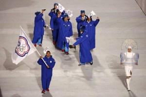 Oltre all'umiliazione del nome, la nazionale di Taipei cinese ai giochi invernali di Sochi era stata eletta come la squadra peggio vestita. Foto: Reuters