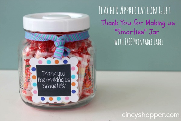 Quick  Easy Teacher Appreciation Gift Thank You for Making us