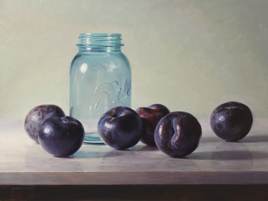 Plums and a Ball Jar