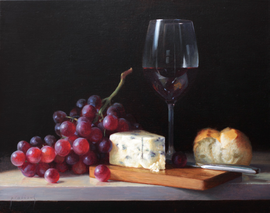 Wine Cheese and Fruit • Sold