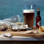 "Wellfleets and Ale • 12 x 16"" oil on linen"