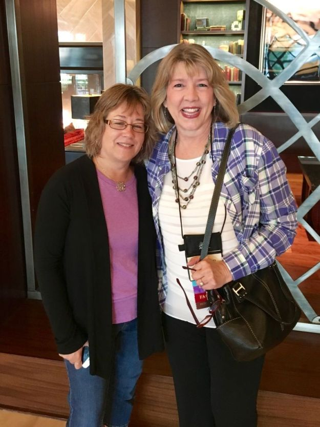 With Deb Raney. Yeah, the eyes thing, but I did enjoy seeing her. We actually had to planning out the opportunity and meet early in the morning!