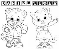 I disegni da colorare di Daniel Tiger