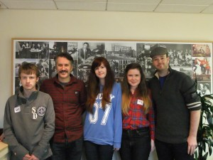 Jonny Collins,Brain Henry Martin, Sophie, Tory and Michael Lennox