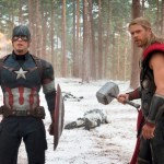 Marvel's Avengers: Age Of Ultron  L to R: Captain America/Steve Rogers (Chris Evans) and Thor (Chris Hemsworth)  Ph: Jay Maidment  ©Marvel 2015