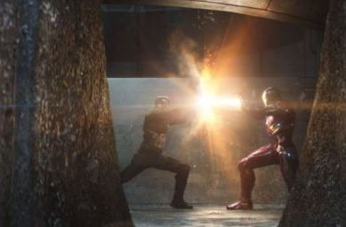 Civil War Cap and Iron Man