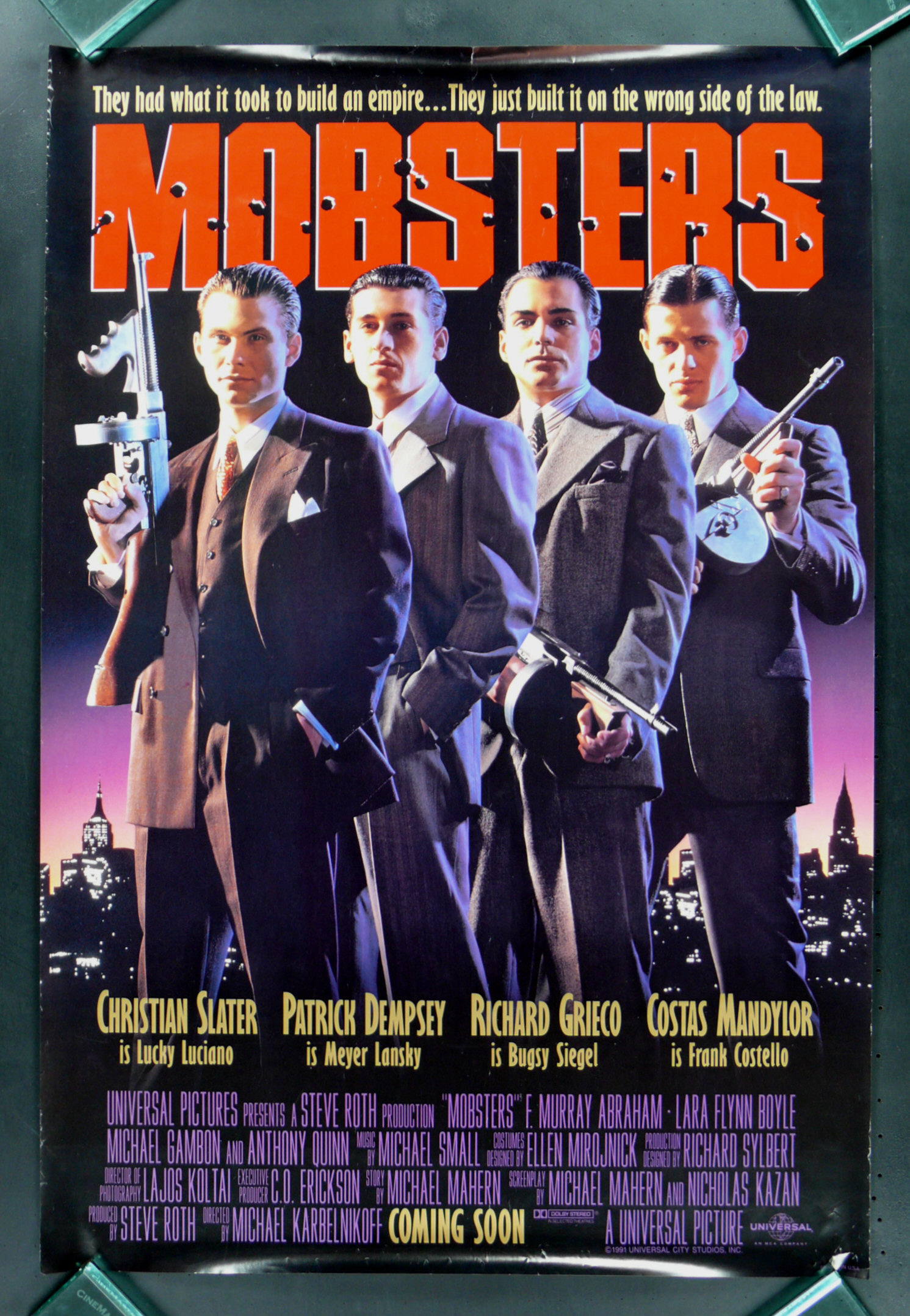 Poster 30x40 Mobsters * 1sh Advance Original Movie Poster 1991 | Ebay