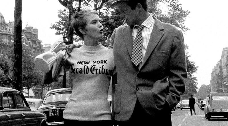 Jean Seberg and Jean-Paul Belmondo in Jean-Luc GodardÕs BREATHLESS (1960), this year celebrating its 50th anniversary. PHOTO CREDIT: Rialto Pictures/StudioCanal