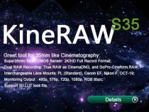 KineRAW s35 and KineRAW s16 & s8 Cameras Too: