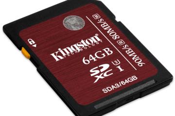 Kingston SDHC:SDXC UHS-I U3 card