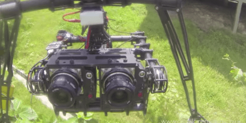 3D Red Epic Octocopter & Dual Brushless Gimbal