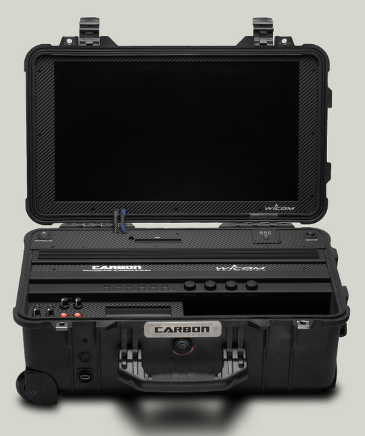 Carbon is a 10-bit 422 HD SSD-recorder and 20-inch HD IPS-monitor