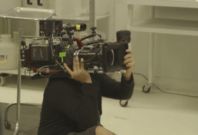 BTS on Wilfred Using DSLR Cameras With Panavision Anamorphic Lenses