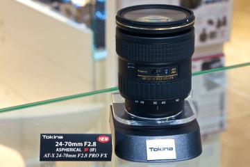 Tokina 24-70 f:2.8 FX lens