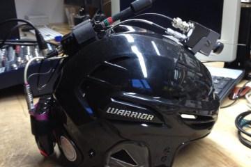 Marshall Electronics CV500-MB-2 POV Camera Mounted On a Hockey Helmet