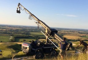 Telescopic Crane Hire: Hydrascope Telescopic Crane and the Raptor Tracking Vehicle from Chapman UK