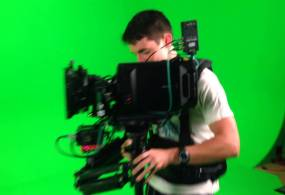 Blackmagic URSA Camera on SteadyCam Rig from Noah Clark
