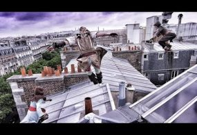 Assassin's Creed Unity Meets Parkour Behind The Scenes