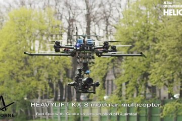Helicam: How does it works & flying in tight places from Helicam Services Oy