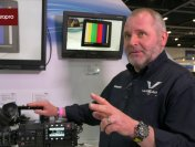 Nigel Wilkes from Panasonic Talks VariCam Cameras at BVE 2015 with Stephen Pritchard