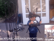 Custom Atlas 2-Rod Harness Allows Little Kid To Shoot Some Footage
