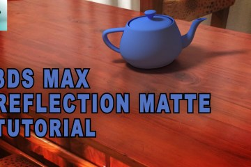 3ds Max Tutorial – Reflection Matte TunnelvizionTV